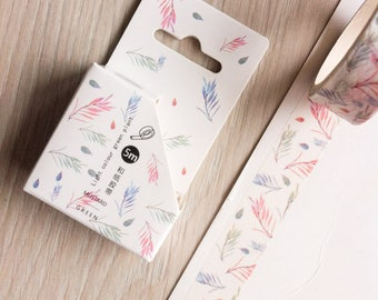 Cute washi tape - 'light colour green plant' #3 | Cute Stationery