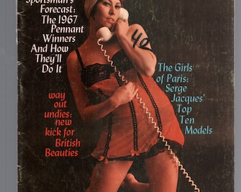 Mature Vintage Mens Girlie Pinup Magazine : Sportsman May 1967  Nude Cheesecake
