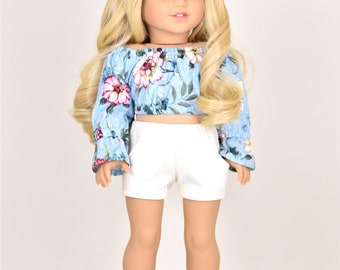 Cropped Taylor Country Top 18 inch doll clothes