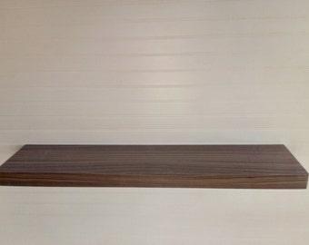custom size modern  walnut  floating shelf 48-96 inch wide