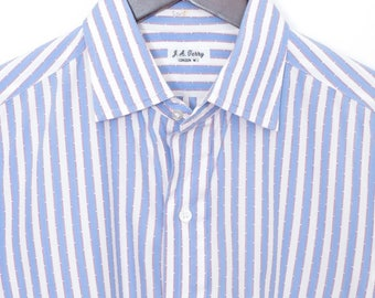 Size 16/35 J.A. Terry, London, bespoke spread collar French cuff dress shirt