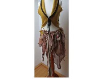 vest for fairies - wool , goa, hippie, fae