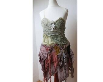 skirt  - lace boho hippie XS S