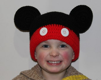 Mickey Mouse Inspired Hat (Custom Order)