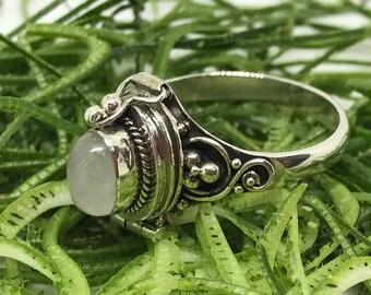 SHANTI 925 Bali Silver Cremation/ Memorial Ring