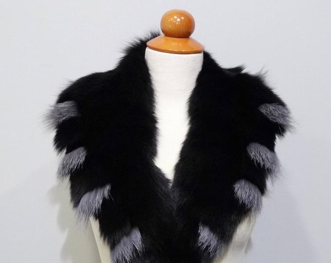 Real Large Fox Fur Collar,Fur Collar,Fur for Leather Jacket F772