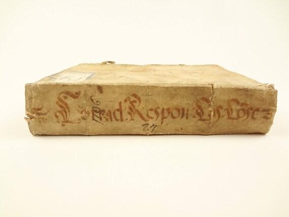 1596 1st edition, Responsa ad Cuiuscunque Pene Generis, Giovanni Battista Corradi