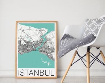 Istanbul Map/ Istanbul Print/ Istanbul Wall Art/ Istanbul Poster/ Istanbul Turkey