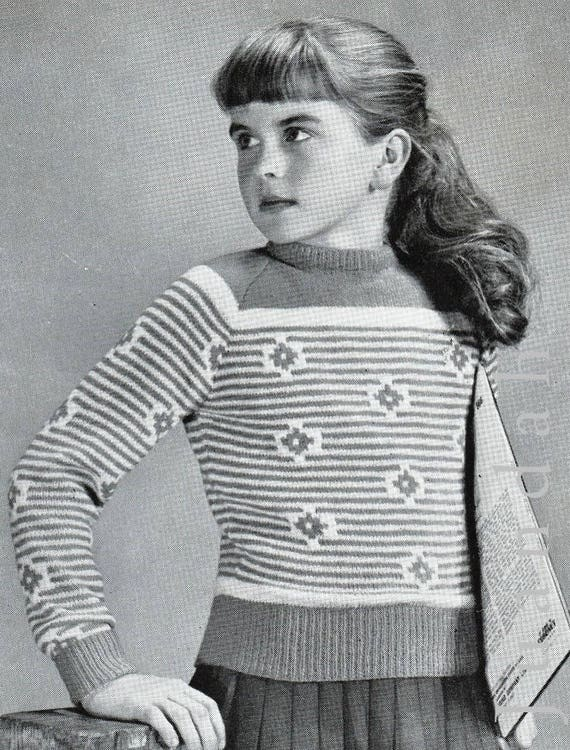 Entire book of 10 girls' and teens' knitting patterns, PDF ...