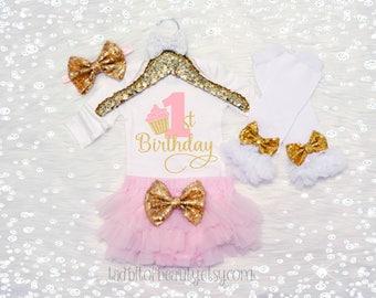 First Birthday Baby Girl - Cupcake Birthday Outfit - Smash Cake Outfit - First Birthday Pictures Outfit - Candy Land Birthday - It's My Bday