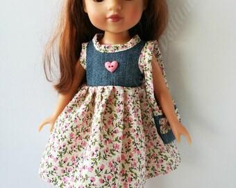 Handmade dress + handbag for Hearts 4 Hearts dolls