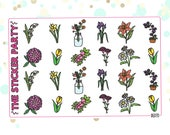 Floral & Flower Planner Stickers