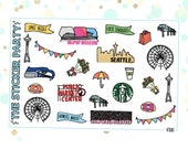 Seattle Planner Stickers