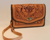 Vintage Tooled Leather Pu...