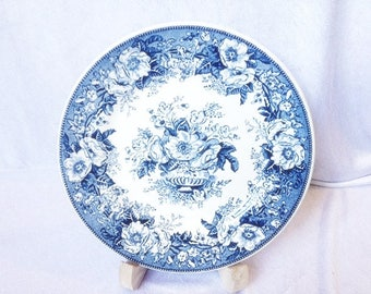 Balmoral Royal Sphinx Maastricht Plate 7.9 Inches  Blue White Plate Vintage Dutch Plate