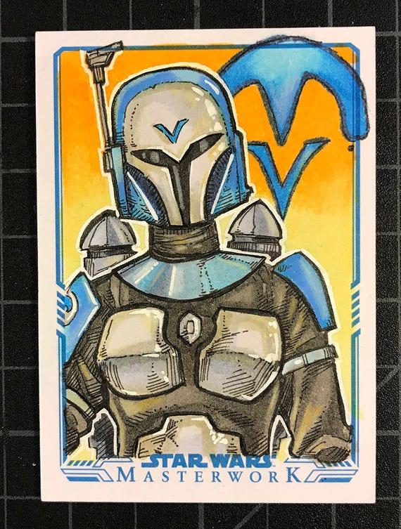 Star Wars Masterwork Original Artist Sketch Card: Bo-Katan