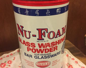 Red White & Blue Nu-Foam Wash Powder Tin