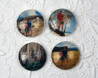 Personalized Magnets - Set of Four 35mm Circles       Personalized Gifts Personalized Items Personalized Photo Gifts Photo Gifts Photo Items
