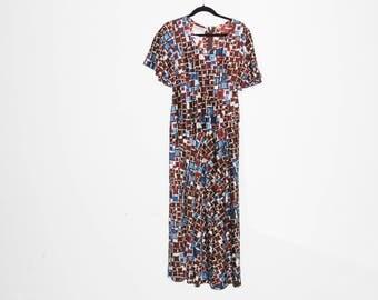 VINTAGE 70's Full Length Dress