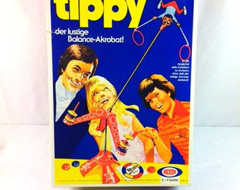 Tippy the Balancing Acrobat Board Game - 70s board games