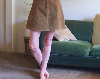 90s Corduroy Skirt/Size 4