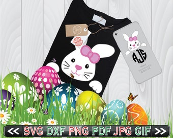 Bunny SVG Files for Cutting Cricut Easter Rabbit Ears - Easter SVG Files - SVG Files for Silhouette - Instant Download