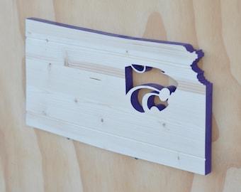 Kansas State Wildcats State Wood Cutout