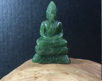 Canadian Jade Thai Buddha Carving - 3 Sizes Available, Jade carving, Jade Buddha