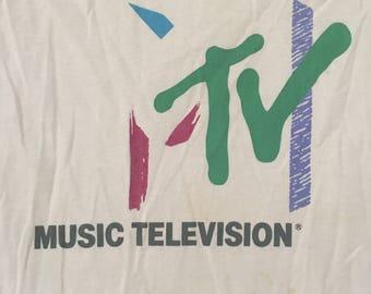 Vintage 90s MTV Tshirt - Vintage MTV Music Television Tee - Large * Made In USA