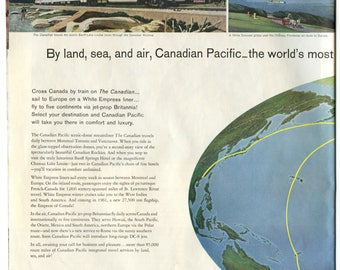 Canadian Pacific Rail Ad from 1960 (PO-60-128ab)