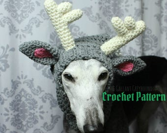 Deluxe Reindeer Snood for Dogs Crochet Pattern (PATTERN ONLY)