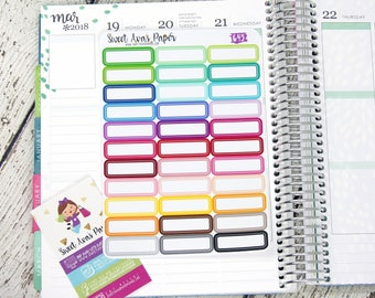 Quarter Box Stickers | Appointment Stickers | Label Stickers | Multicolor Stickers | Functional Stickers | Fits Most Planners | 645