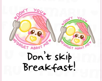 Breakfast Reminder || Planner Stickers, Cute Stickers for Erin Condren (ECLP), Filofax, Kikki K, Etc. || DPS175
