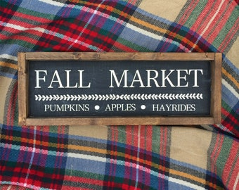 Fall Market - Wood Sign - Farmhouse Style - Fall Decor