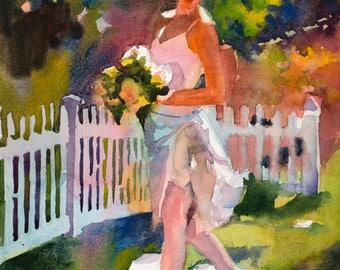 Ballerina Watercolor, Dancer Painting, Dancer Watercolor, Ballerina Painting, Impressionistic Ballerina