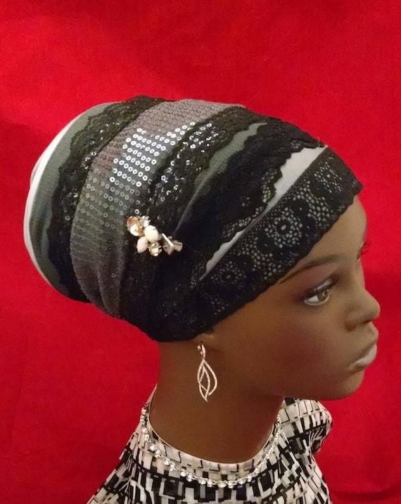 So elegant sparkling sinar tichel, tichels, chemo scarves, head scarves