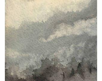 Moonlite Lake - Original Watercolor