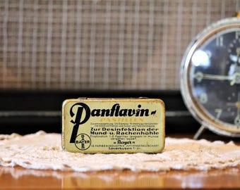 Bayer Medical Tin - Vintage Tin Box - Tablet Tin - German Pharmacy Tin - Vintage Gift Tin - Panflavin Metal Pill Box