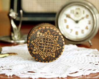 Gift Box - Ring Box - Small Ring Bearer Box - Vintage Gift Box with Lid - Hand Carved Wood Rustic Ring Box - Jewelry Storage - Proposal Box