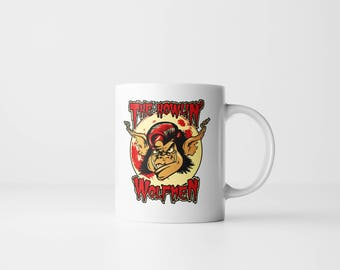 The Howlin' Wolfmen - Halloween Wolfman Werewolf Wolf Universal Monsters 11 oz Mug