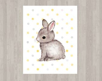 Bunny Nursery Decor | Children's Art | Kid's Room Decor  | Bunny Wall Decor | Nursery Wall Art | Baby's Nursery | Baby Shower Gifts