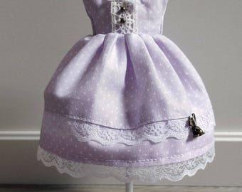 Pullip, Obitsu M - purple polka dot dress