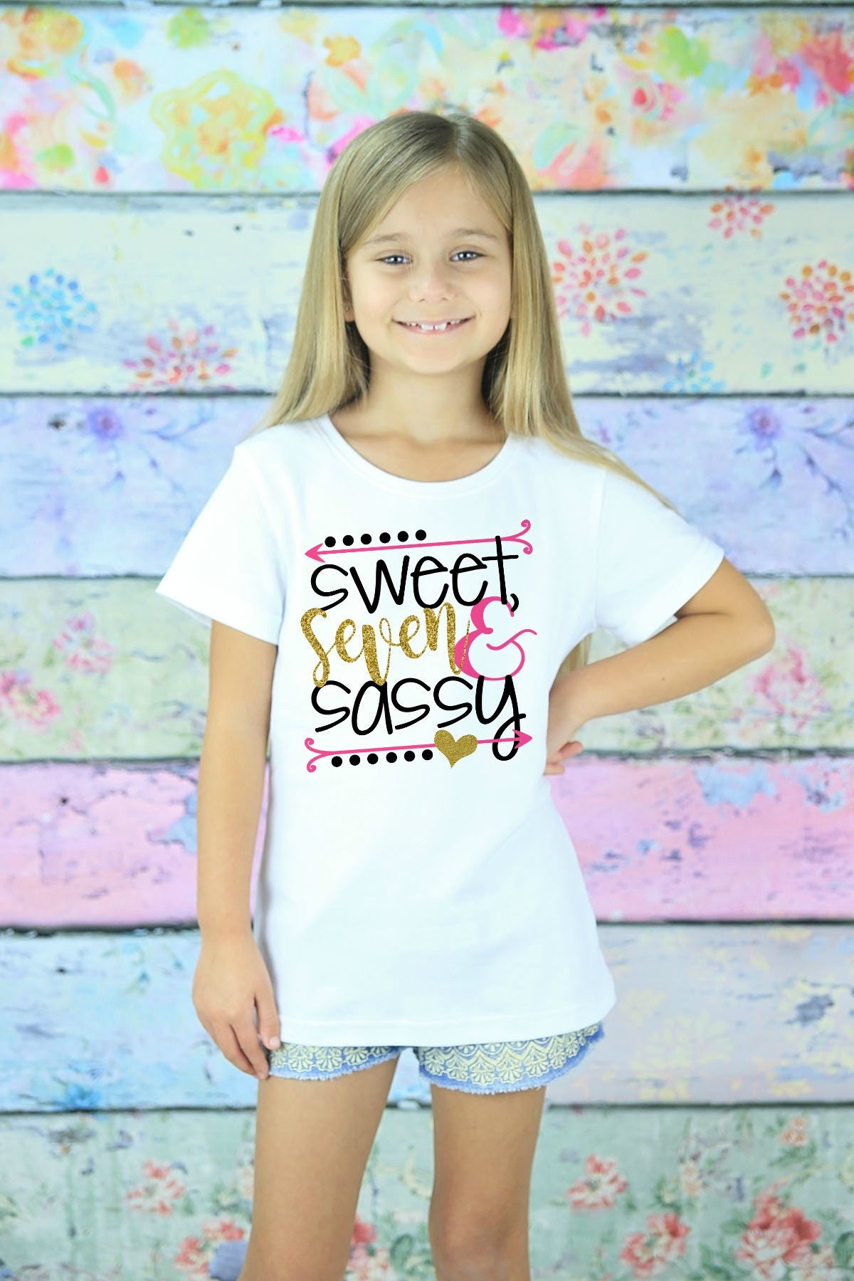 Seven Birthday Shirt 7th Birthday Girl Seven Birthday Gift