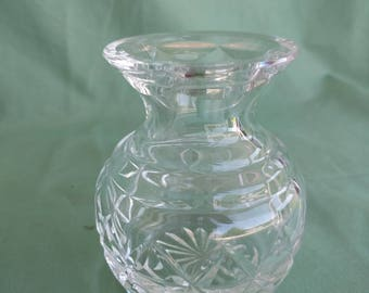 PRESSED GLASS VASE, Small, Pattern, Vintage, Collectible, Dried Flowers, Fresh Flowers
