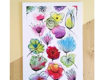 Watercolor Flowers (A5)
