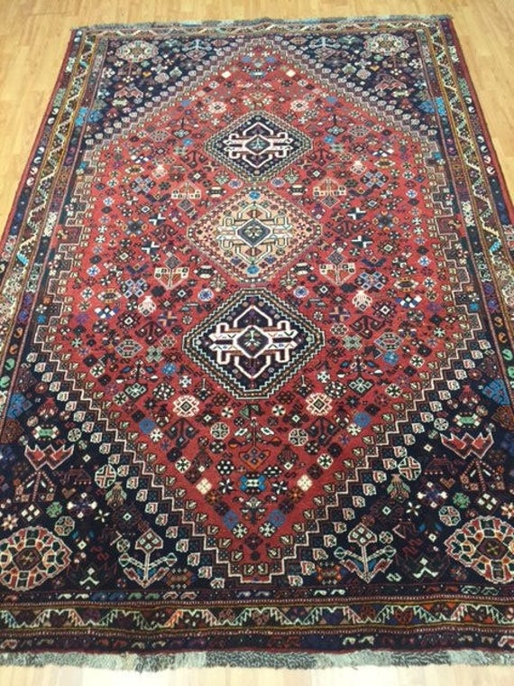 "5'9"" x 8'3"" Persian Shiraz Oriental Rug - Hand Made - 100% Wool Pile"