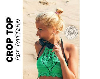 Crochet Crop Top Pattern/ Crochet Halter Top Pattern/ Crochet Bikini Top/ Crochet Crop Top/ Crochet Halter Top Pattern/ Crochet Yoga Top