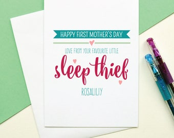 Personalised First Mothers day card, 1st Mothers Day, New mum card, First time mum card, Card for Wife, Card for Girlfriend, Card for Mum