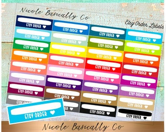 Etsy Order Rainbow Labels Planner Stickers