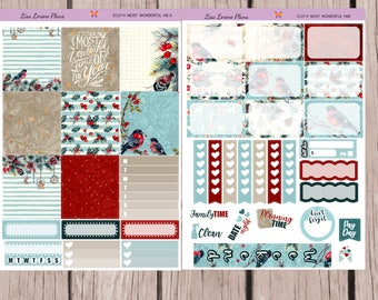 HORIZONTAL Most Wonderful Time of the Year | PlannerSticker Kit perfect for horizontal Erin Condren Life Planner | H6